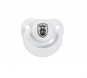 PAOK FC PLASTIC PACIFIER WITH LOGO