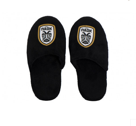 PAOK FC BLACK JR SLIPPERS