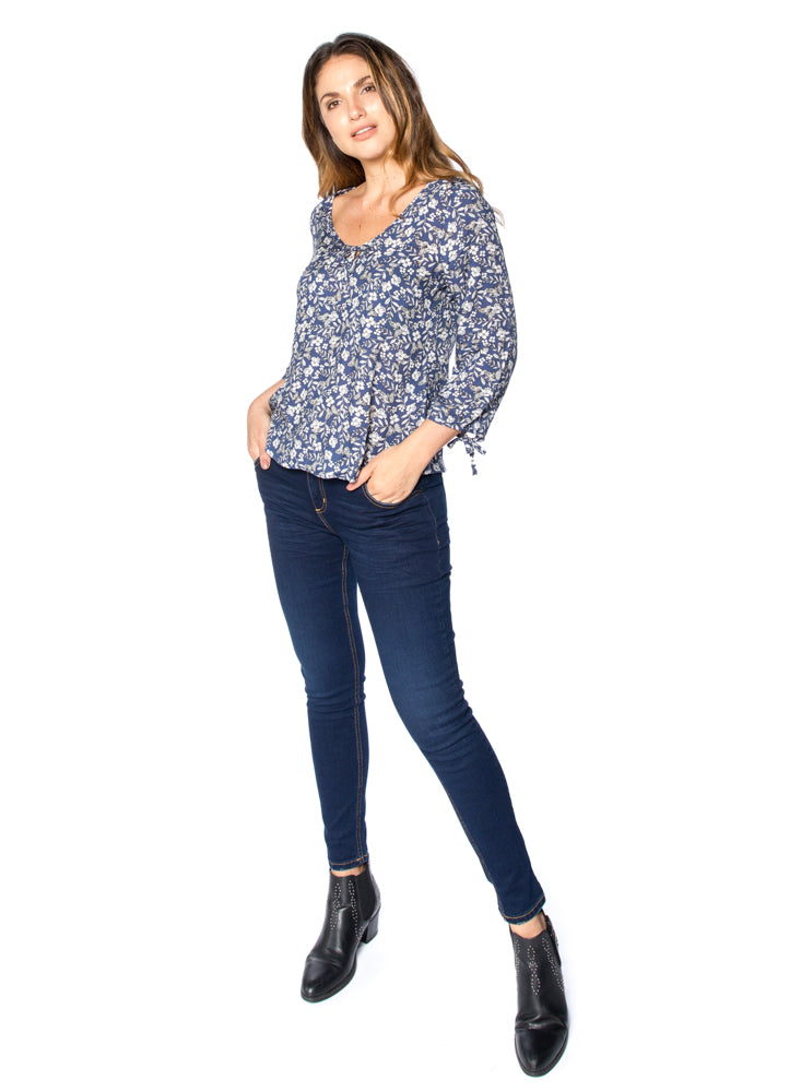 Jean Mujer Super Skinny Color Azul Oscuro