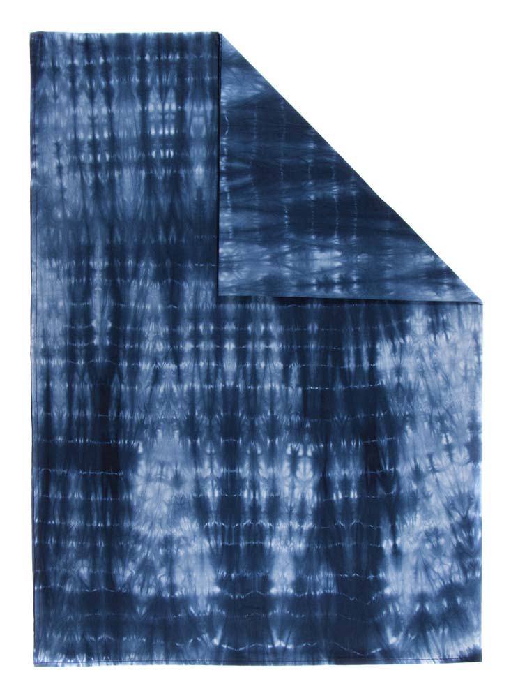 Mantel Rectangular Tie Dye Color Azul