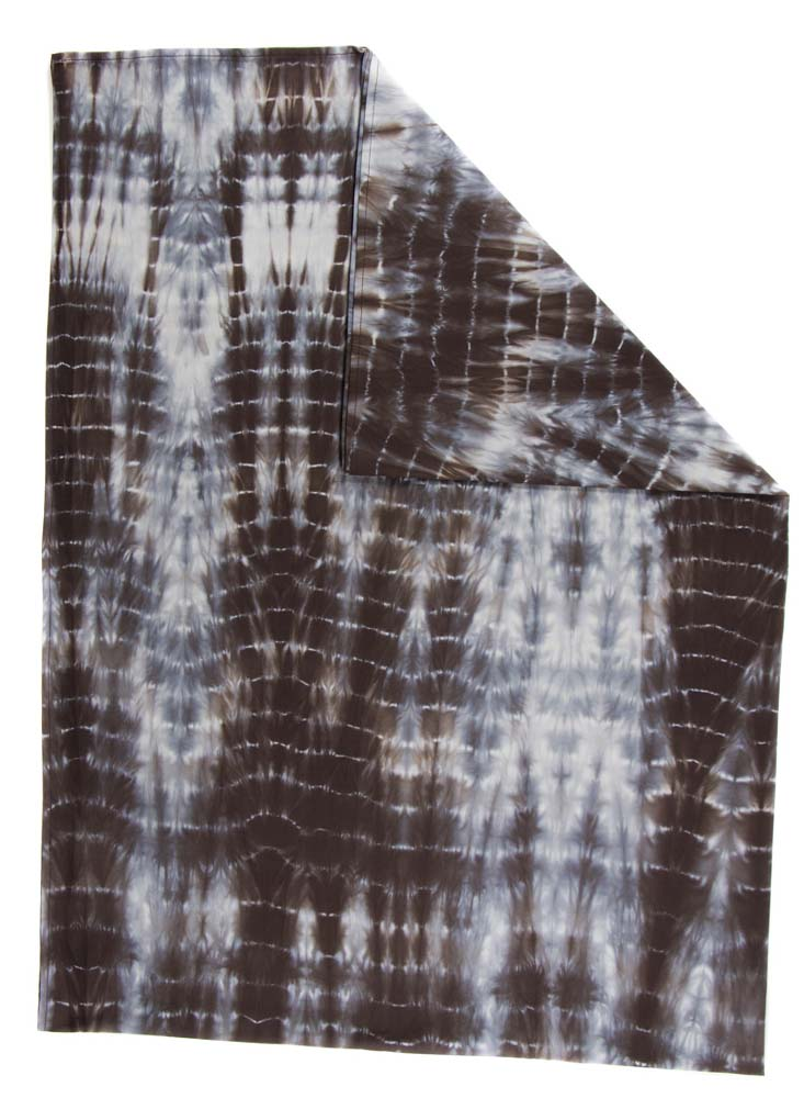 Mantel Rectangular Tie Dye Color Café