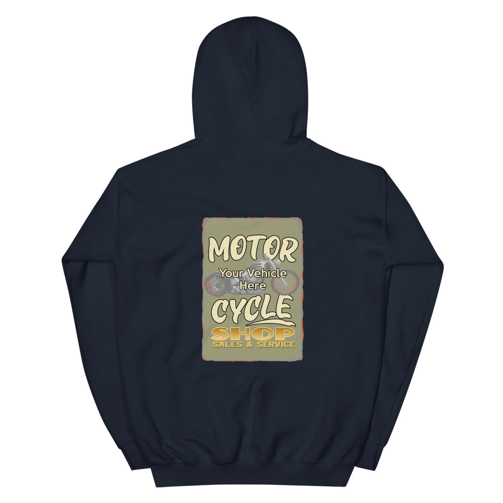 Motorcycle Shop Personalized Hoodie