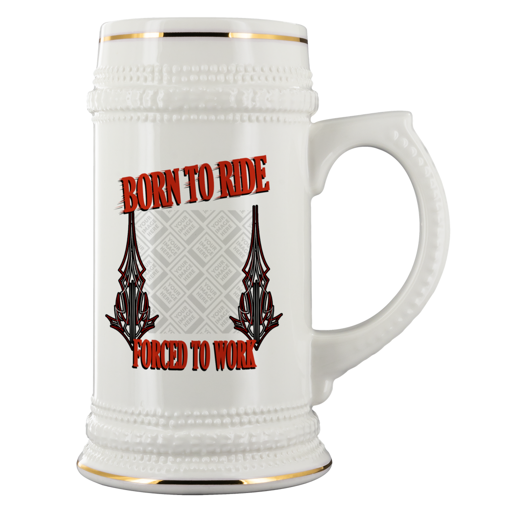 Born To Ride Custom Personalized Beer Stein