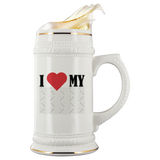 I Heart My Custom Personalized Beer Stein