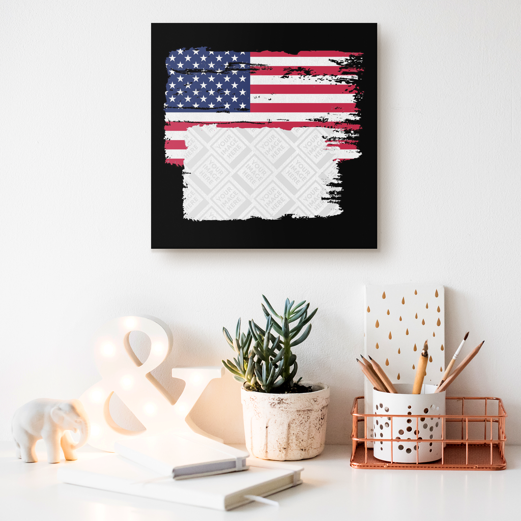 American Flag Custom Personalized Canvas Artwork