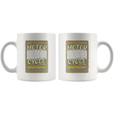 Dad's Garage Motorcycle Shop Custom Personalized Mug, 11 oz.