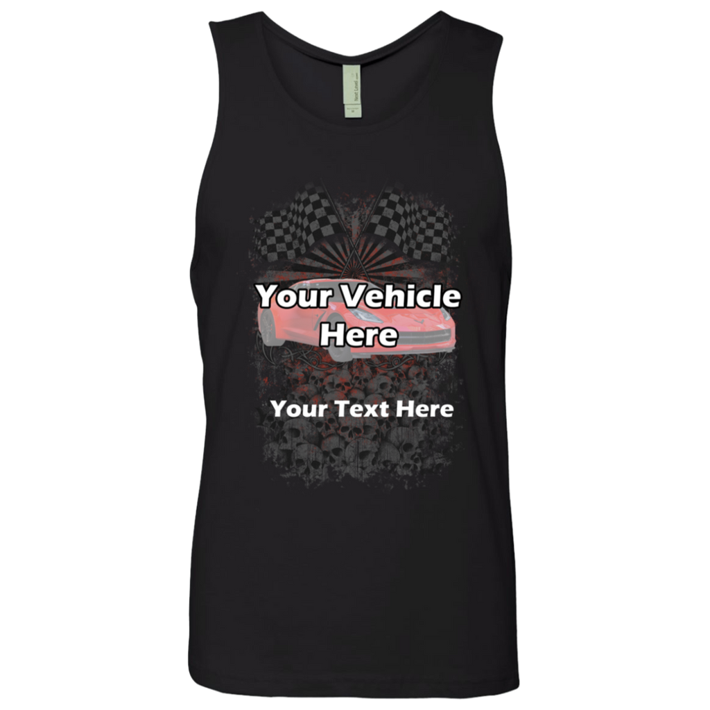 Checkered Flags Personalized Men's Tank Top