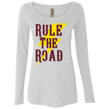 RTR Classic Style Logo Ladies Long Sleeve Scoop Neck T-Shirt