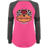 Speed Demon Ladies Game Long Sleeve V-Neck T-Shirt