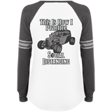 Social Distancing Classic Car Ladies Game Long Sleeve V-Neck T-Shirt