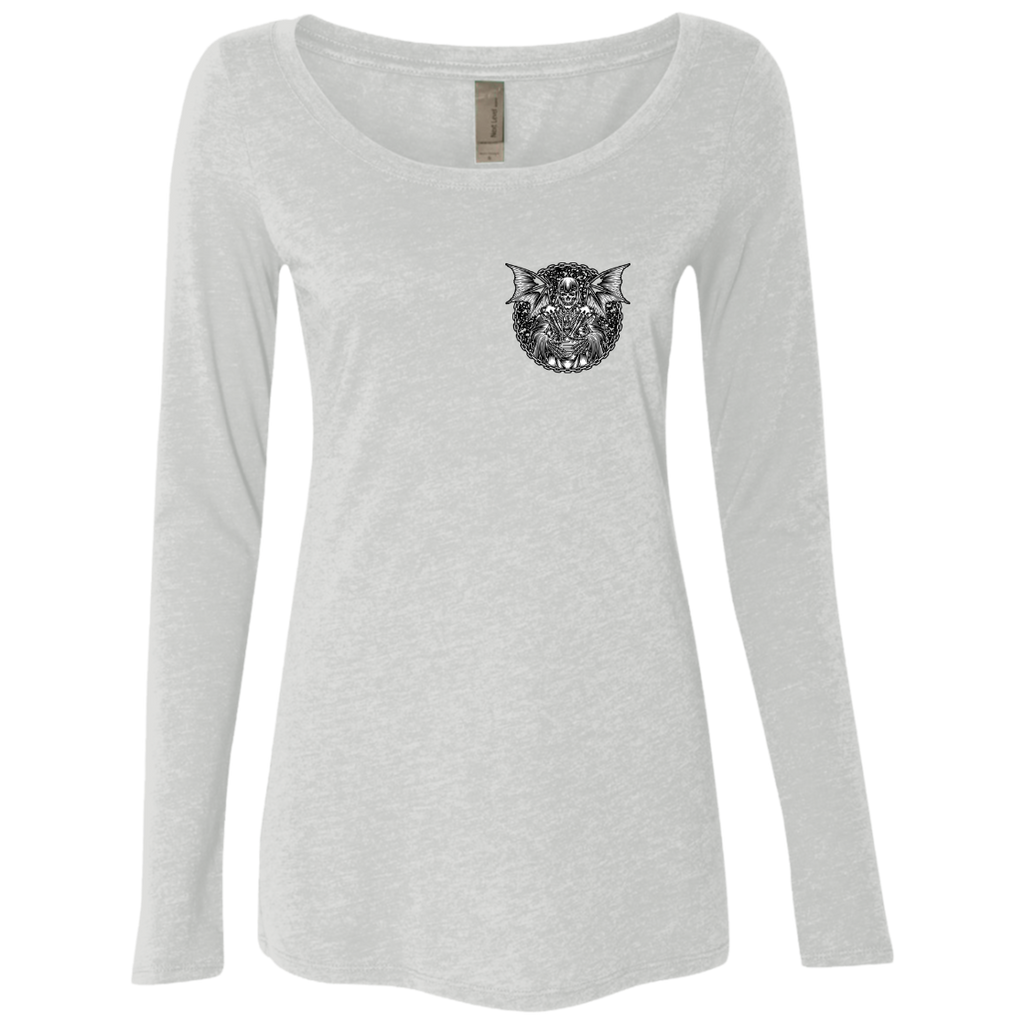 Grim Reaper Ladies Long Sleeve Scoop Neck T-Shirt