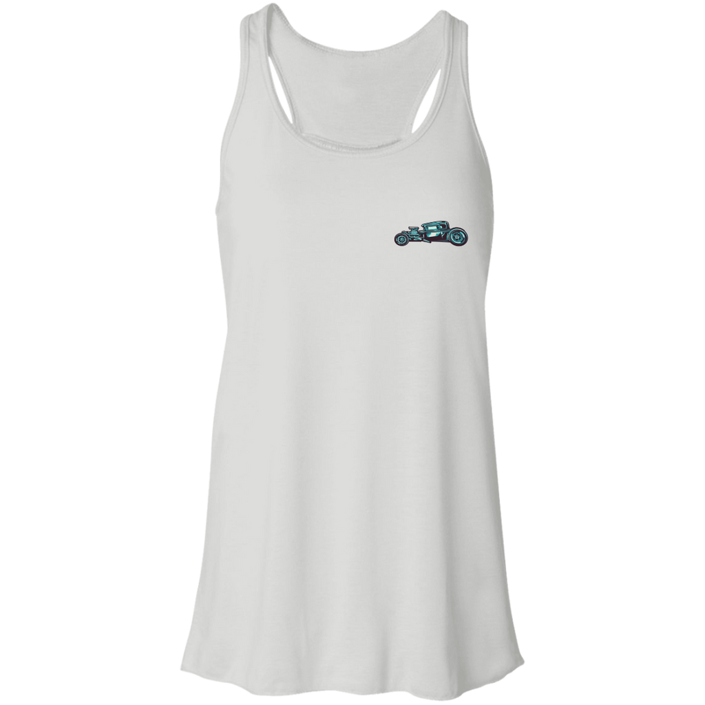 American Hot Rod Ladies Flowy Racerback Tank