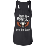 Stock Is Boring Ladies Flowy Racerback Tank