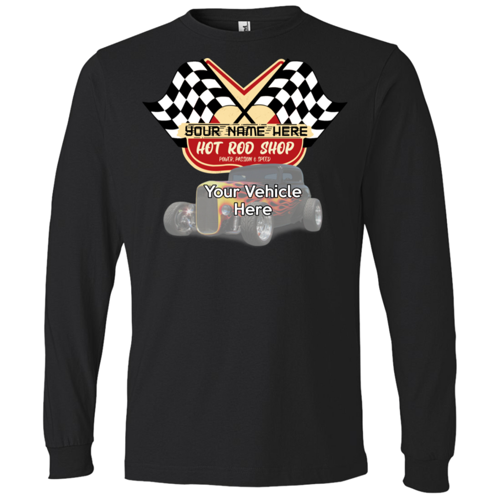 Hot Rod Shop Personalized Men's Long Sleeve T-Shirt