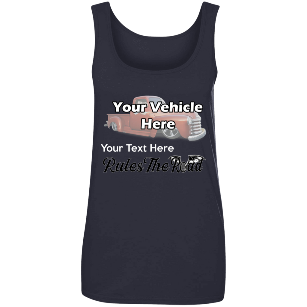 Rule The Road Winged Wheel Personalized Women's Scoopneck Tank Top
