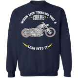 When Life Throws You A Curve Personalized Crewneck Sweatshirt