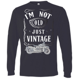 I'm Not Old, Just Vintage Personalized Men's Long Sleeve T-Shirt