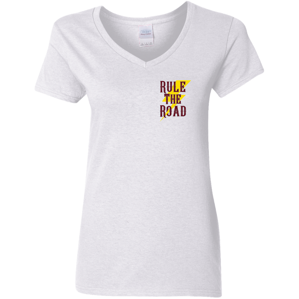 Built Not Bought Ladies V-Neck T-Shirt