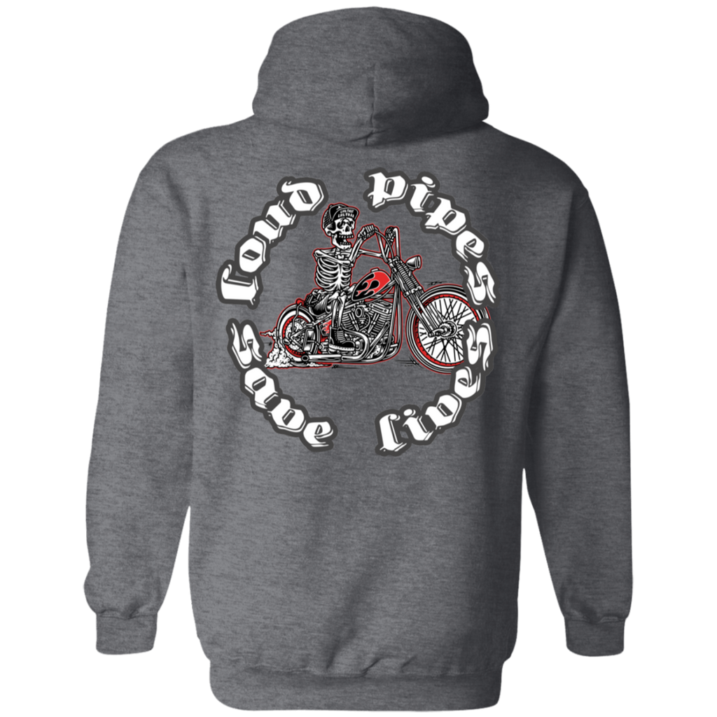 Loud Pipes Save Lives Bobber Pullover Hoodie