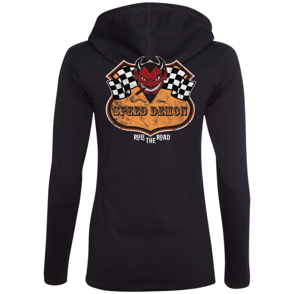 Speed Demon Ladies Long Sleeve T-Shirt Hoodie