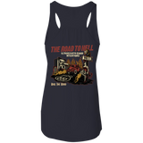 The Road To Hell Hot Rod Ladies Flowy Racerback Tank