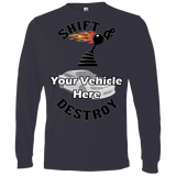 Shift And Destroy Personalized Men's Long Sleeve T-Shirt