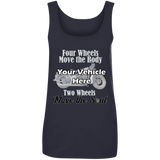 Two Wheels Move The Soul Personalized Women's Scoopneck Tank Top