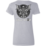 Cheat Death Ladies V-Neck T-Shirt
