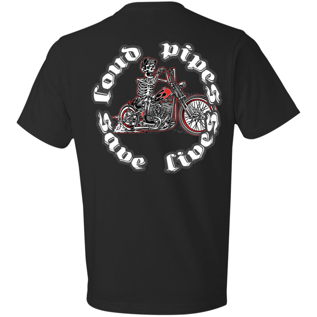 Loud Pipes Save Lives Bobber Short Sleeve T-Shirt