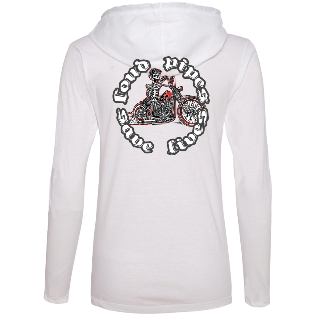 Loud Pipes Save Lives Bobber Ladies Long Sleeve T-Shirt Hoodie