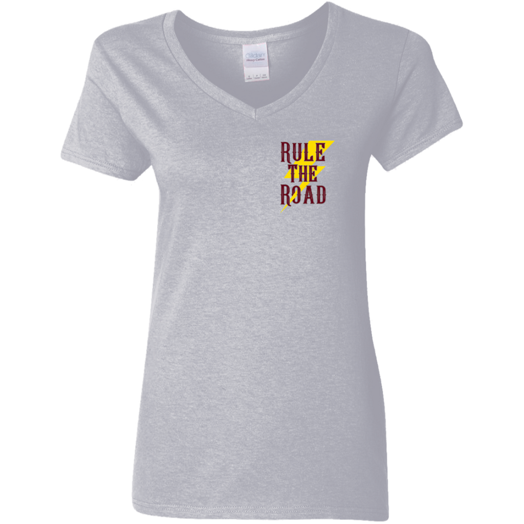 Freedom Is A Full Tank Hot Rod Ladies V-Neck T-Shirt