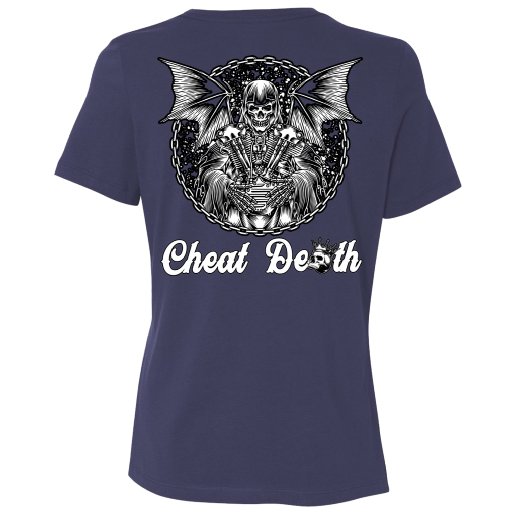 Cheat Death Ladies Relaxed Fit Short Sleeve T-Shirt