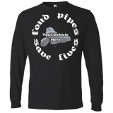Loud Pipes Save Lives Personalized Men's Long Sleeve T-Shirt