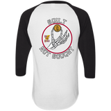 Built Not Bought Mens 3/4 Sleeve Raglan Jersey
