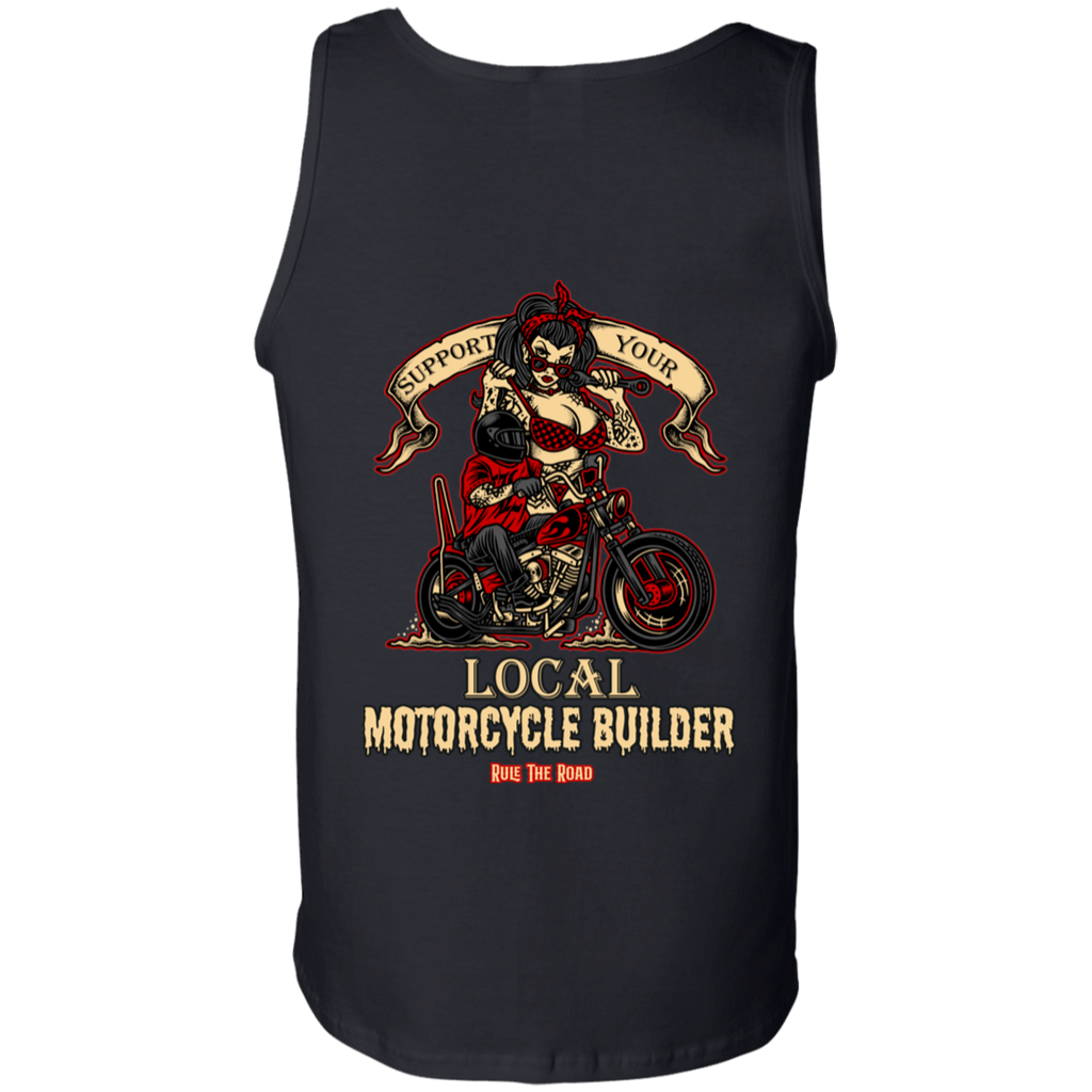 Support Your Local Motorcycle Builder Mens Tank Top