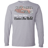 Rule The Road Winged Wheel Personalized Men's Long Sleeve T-Shirt