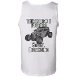Social Distancing Classic Car Mens Tank Top