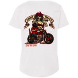 Troublemaker Motorcycle Ladies Curvy Plus Size Short Sleeve T-Shirt