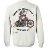 When Life Throws You A Curve Pullover Crewneck Sweatshirt