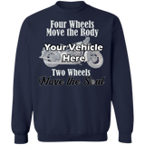 Two Wheels Move The Soul Personalized Crewneck Sweatshirt
