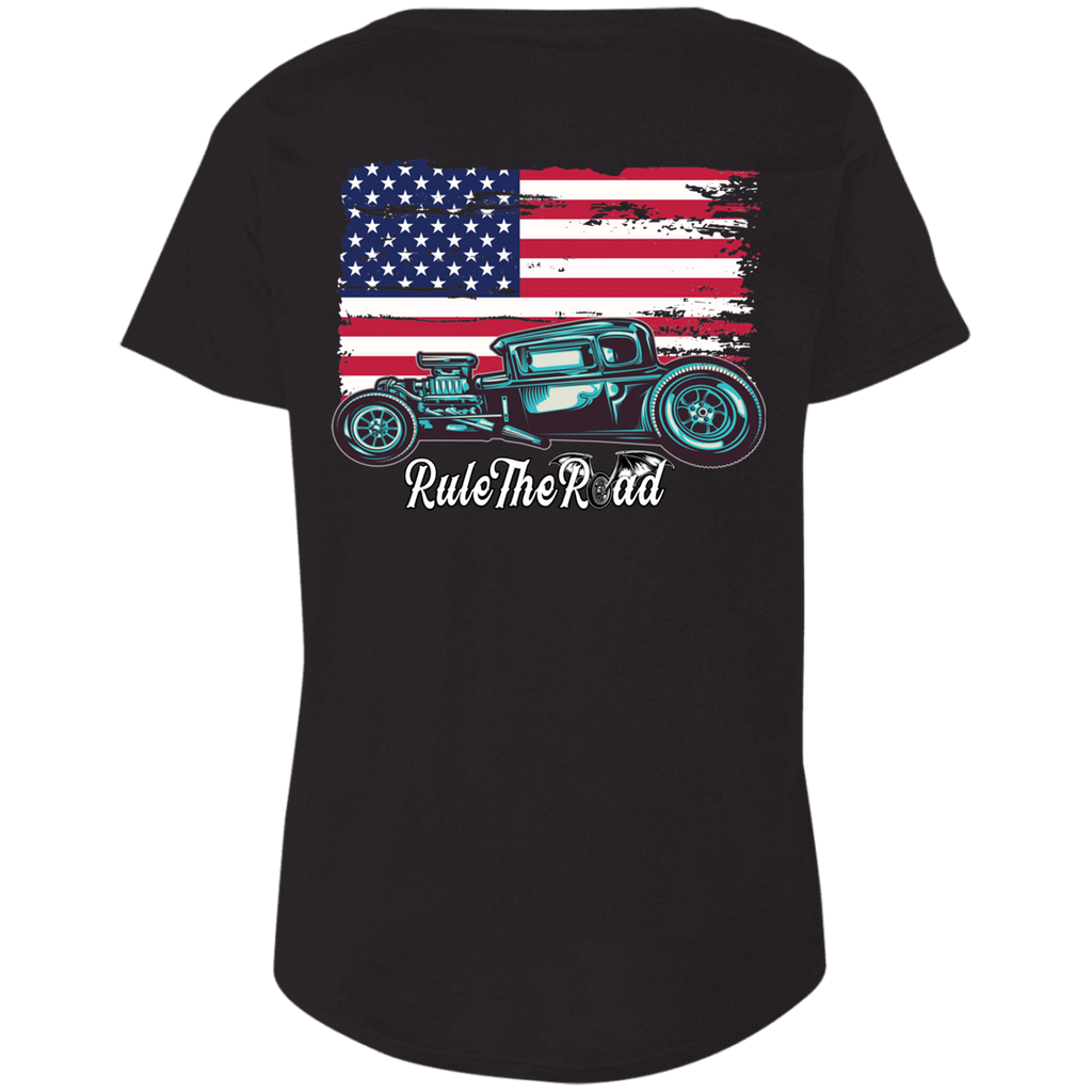 American Hot Rod Ladies Curvy Plus Size Short Sleeve T-Shirt