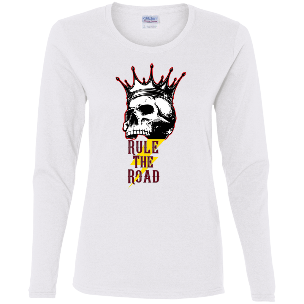 Skull Logo Ladies Long Sleeve T-Shirt