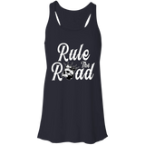 Rule The Road OG Logo Ladies Flowy Racerback Tank