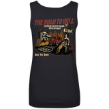 The Road To Hell Hot Rod Ladies Scoopneck Tank Top