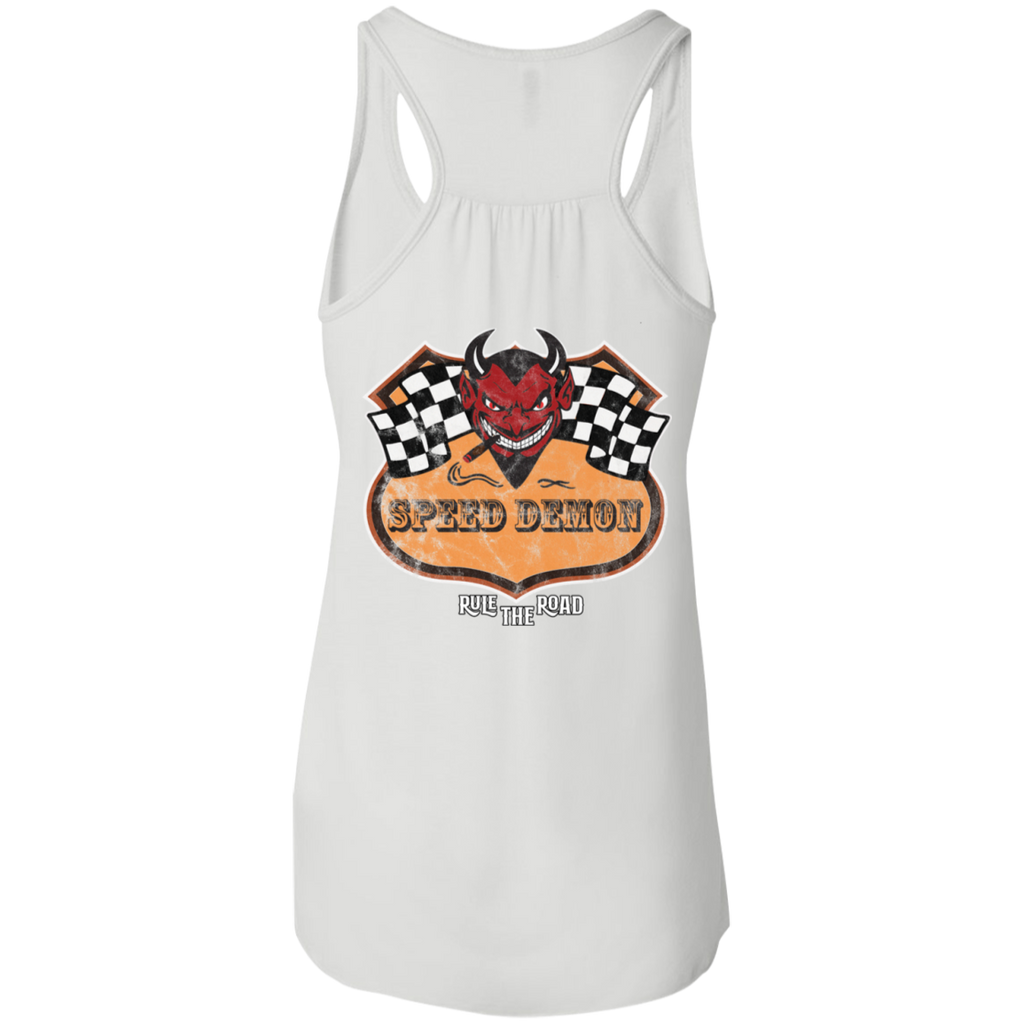 Speed Demon Ladies Flowy Racerback Tank