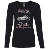 It Doesn't Matter What You Ride Personalized Women's Long Sleeve T-Shirt