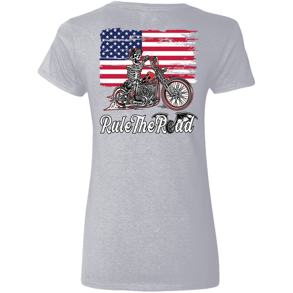 American Iron Ladies V-Neck T-Shirt