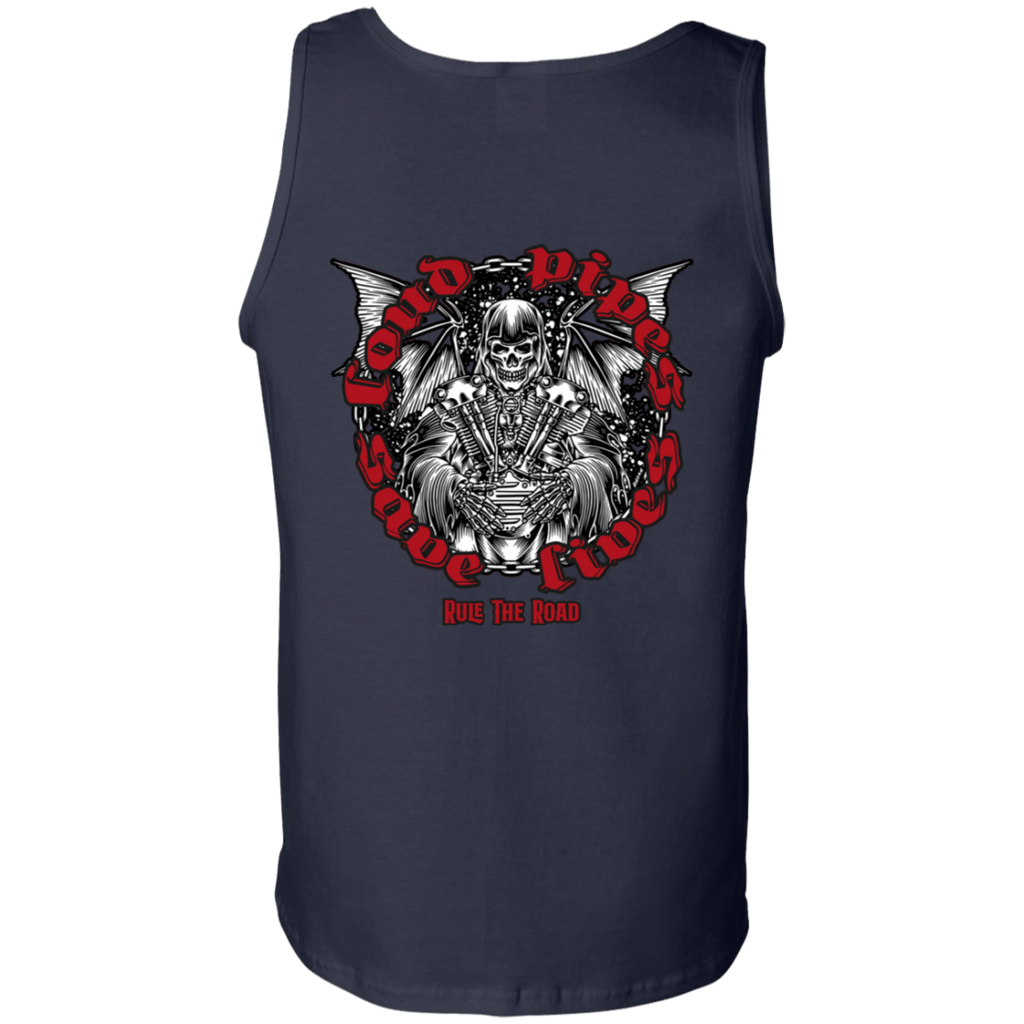 Loud Pipes Save Lives Reaper Mens Tank Top
