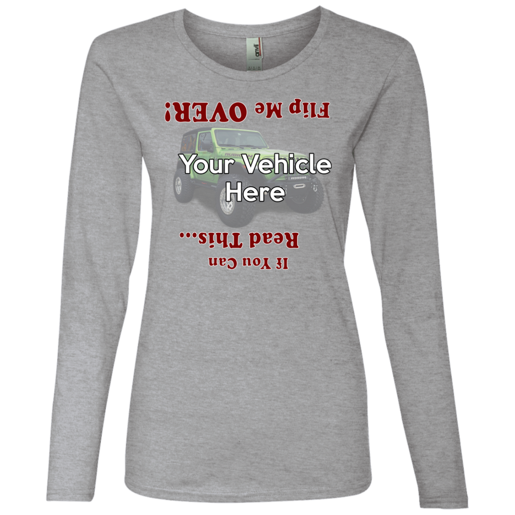 Flip Me Over Personalized Women's Long Sleeve T-Shirt