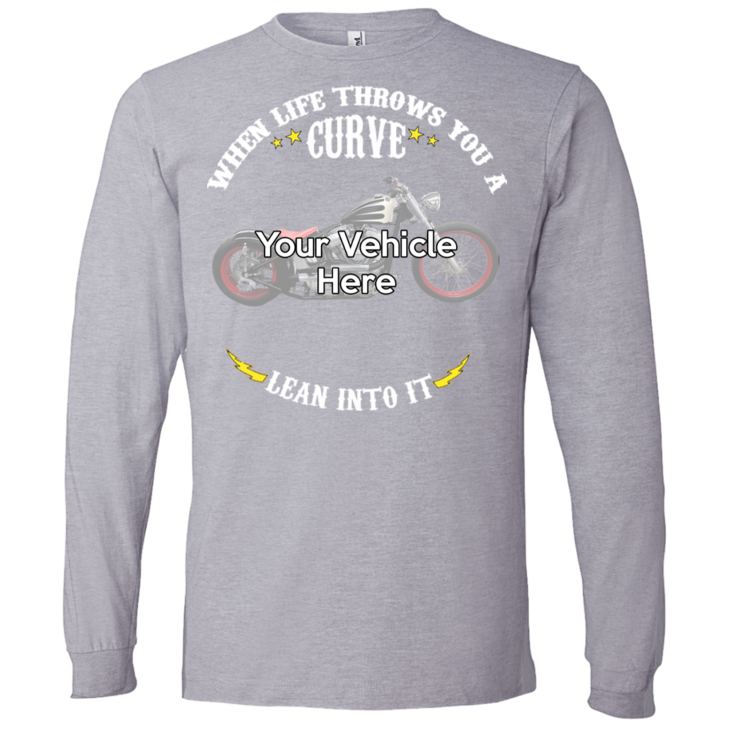 When Life Throws You A Curve Personalized Men's Long Sleeve T-Shirt